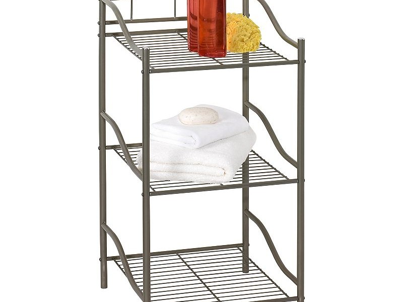 3 Shelf Bathroom Storage Tower