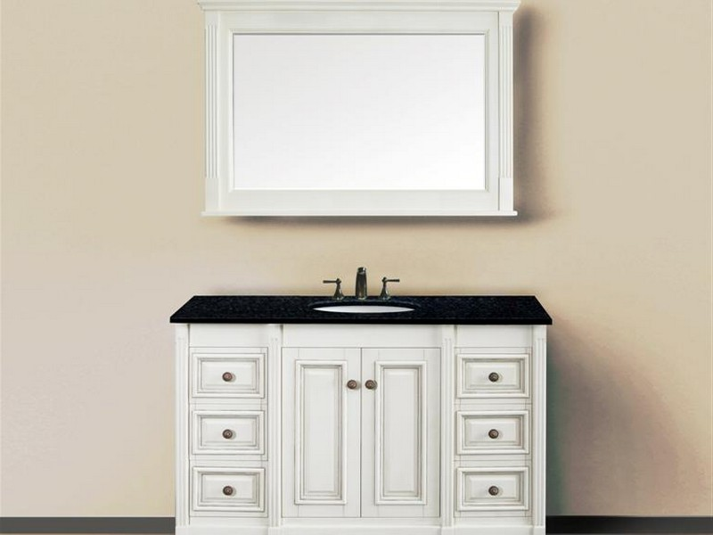 30 Inch Antique White Bathroom Vanity