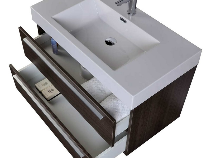 30 Inch Gray Bathroom Vanity