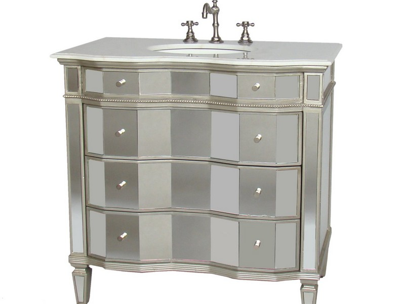 30 Inch White Bathroom Vanity With Marble Top
