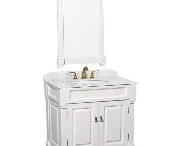 36 Inch White Bathroom Vanity With Top