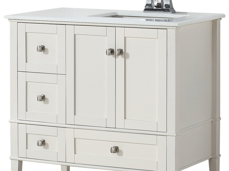 42 Inch Bathroom Vanity With Right Offset Sink Artcomcrea
