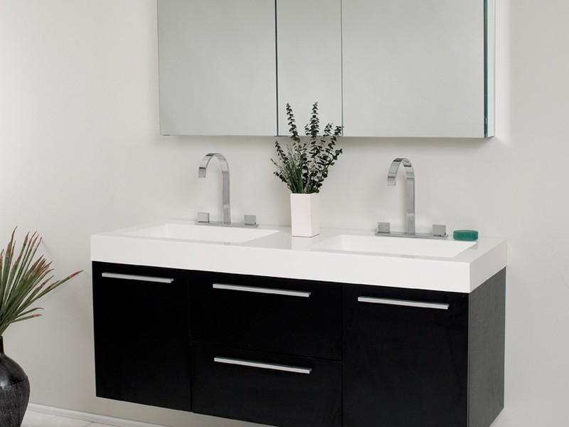 54 Bathroom Vanity Double Sink