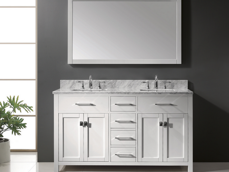 55 Inch Bathroom Vanity Double Sink
