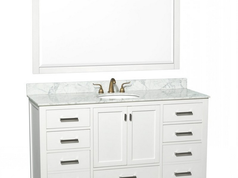 60 Bathroom Vanity Single Sink White