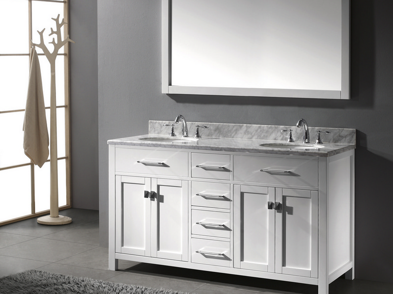 60 Double Sink Bathroom Vanity Top