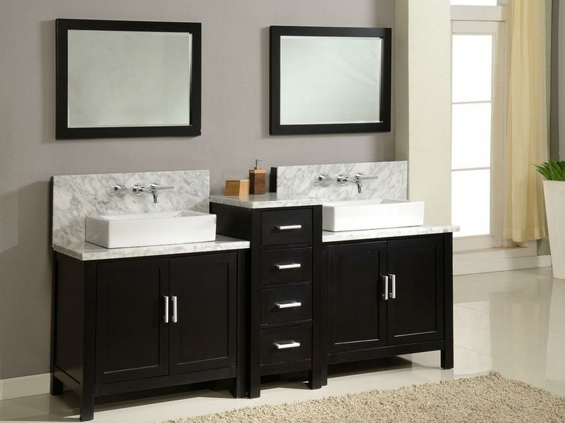 60 In Bathroom Vanity Double Sink