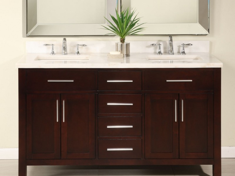 60 Inch 2 Sink Bathroom Vanity