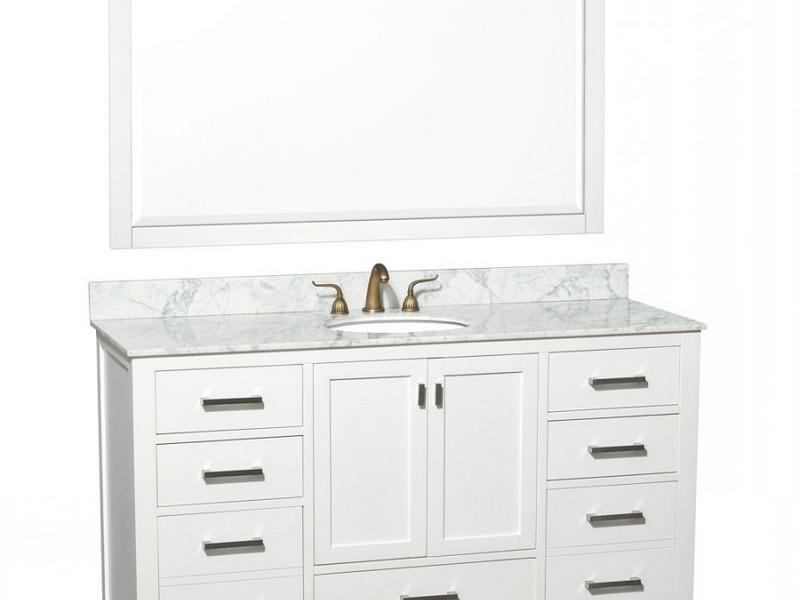 60 Inch Bathroom Vanity Single Sink White