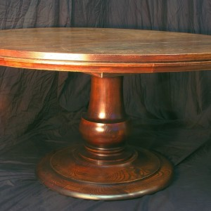 60 Inch Round Pedestal Dining Table With Leaf