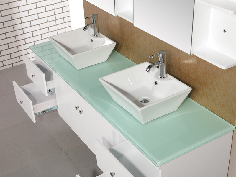 72 Double Sink Bathroom Vanity Top