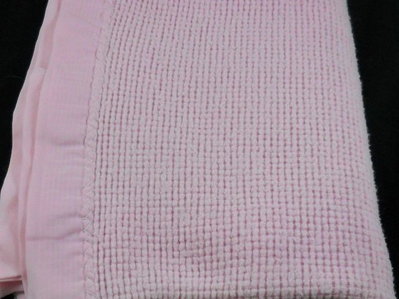 Acrylic Blanket With Satin Trim