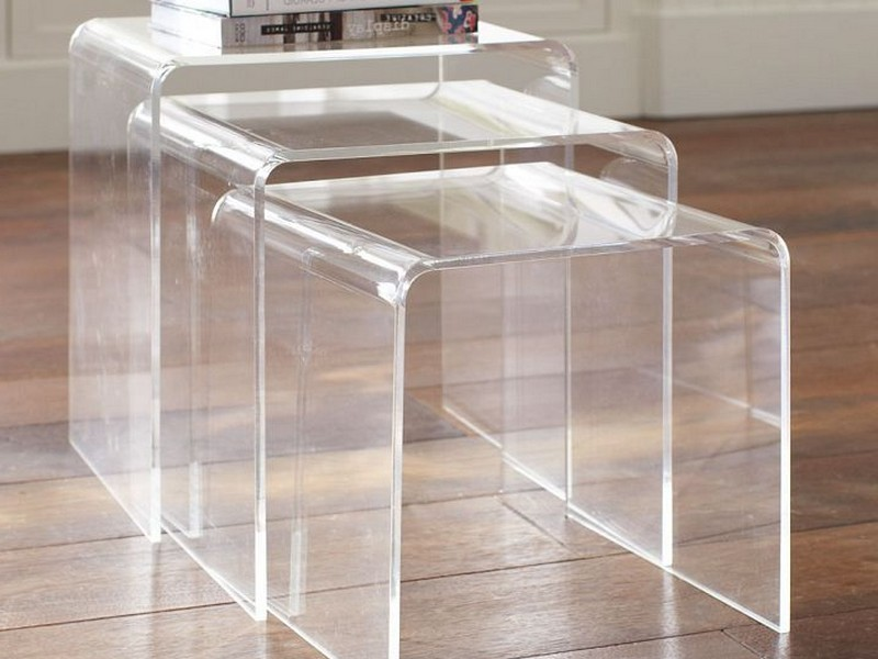 Acrylic Nesting End Tables