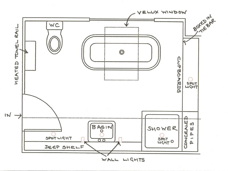 Ada Bathroom Layout With Shower