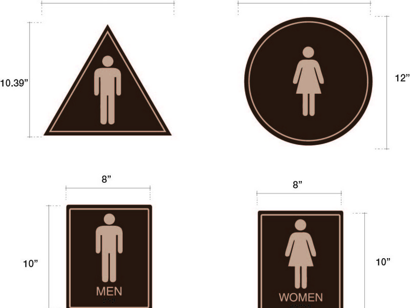 Ada Bathroom Signs California