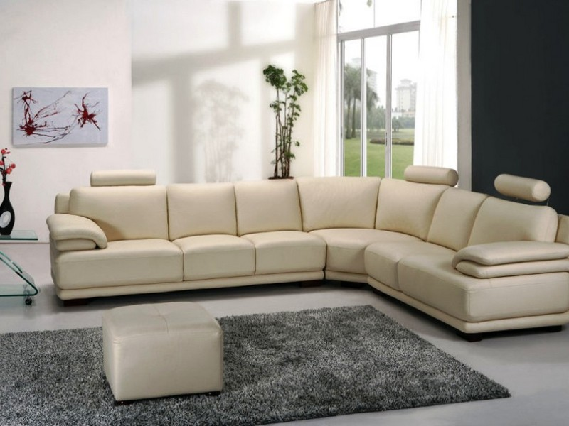 Alessia Leather Sectional Sofa