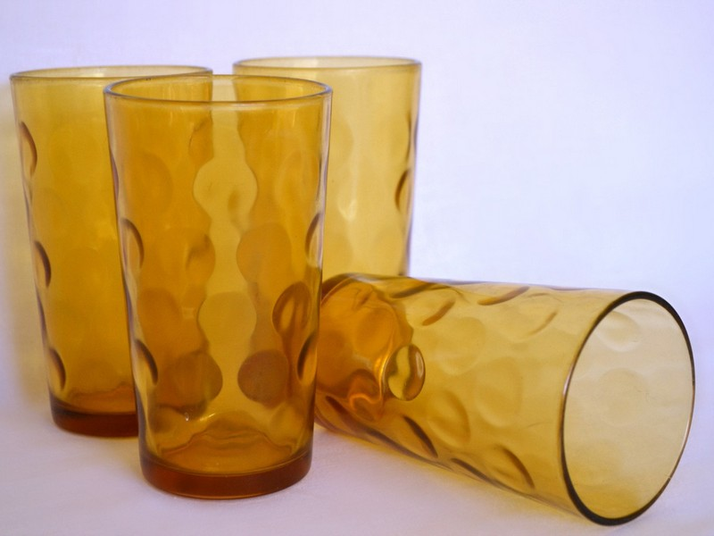 Amber Colored Drinking Glasses