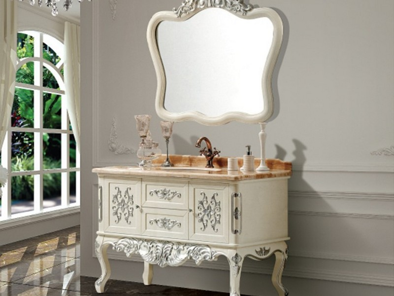 Antique Bathroom Vanity With Mirror