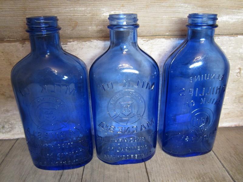 Antique Blue Glass Bottles Value