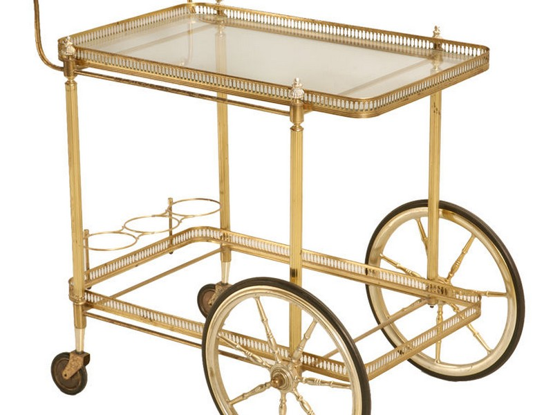 Antique Brass Bar Cart