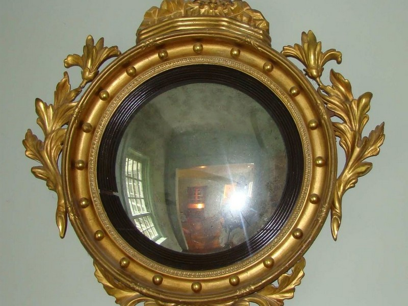 Antique Convex Mirror Eagle
