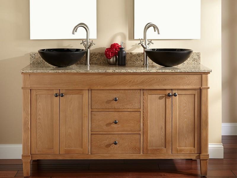 Antique Double Sink Bathroom Vanities