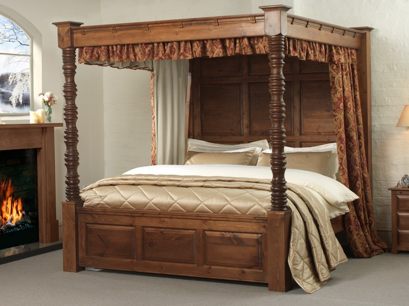 Antique Four Poster Bed Frame