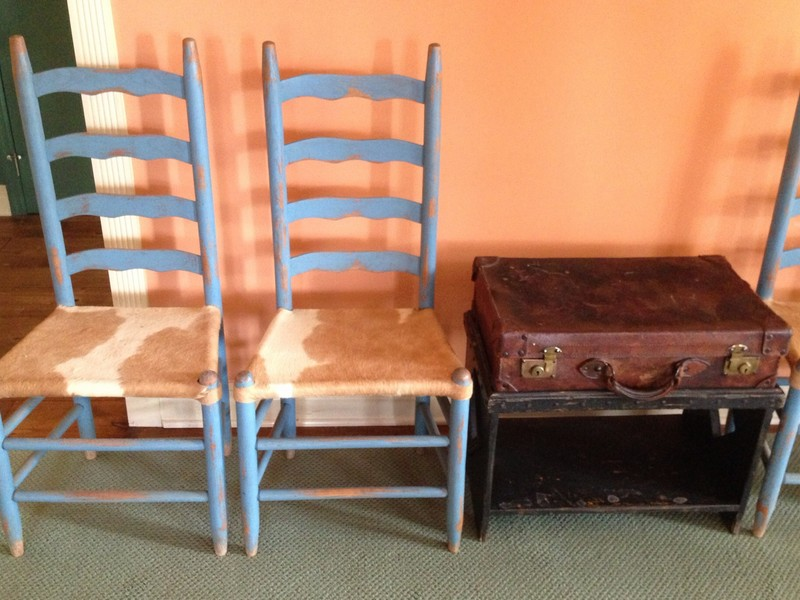 Antique Ladder Back Chairs With Cane Seats