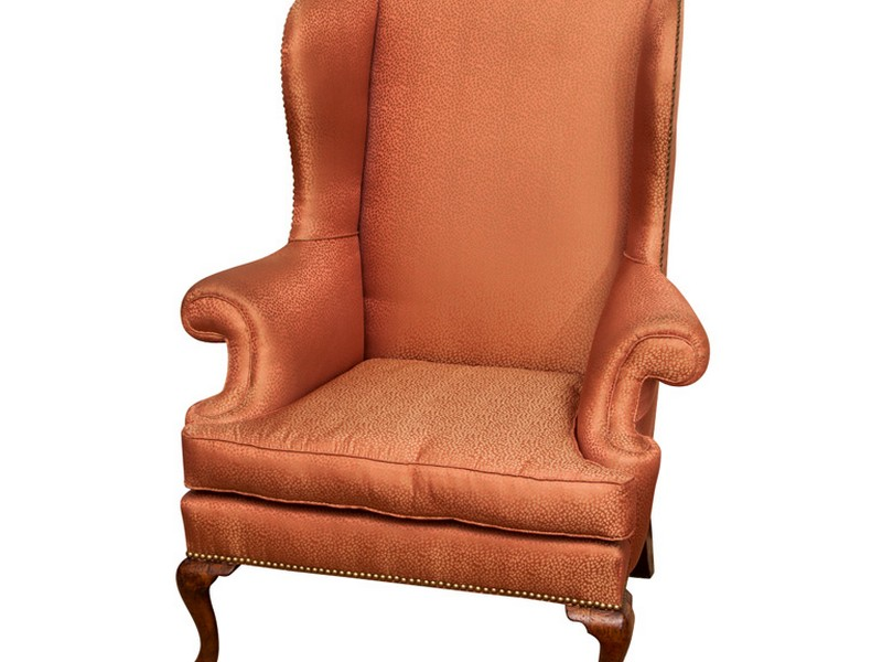 Antique Queen Anne Wingback Chair