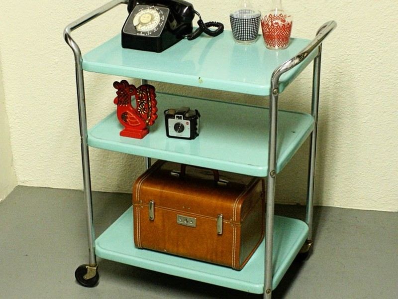 Antique Serving Carts On Wheels