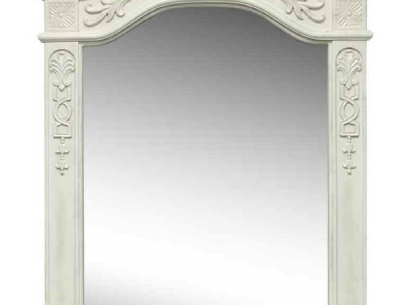 Antique White Bathroom Vanity Mirrors
