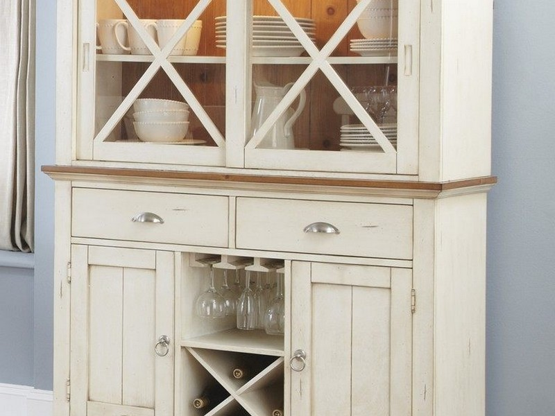Antique White Buffet And Hutch