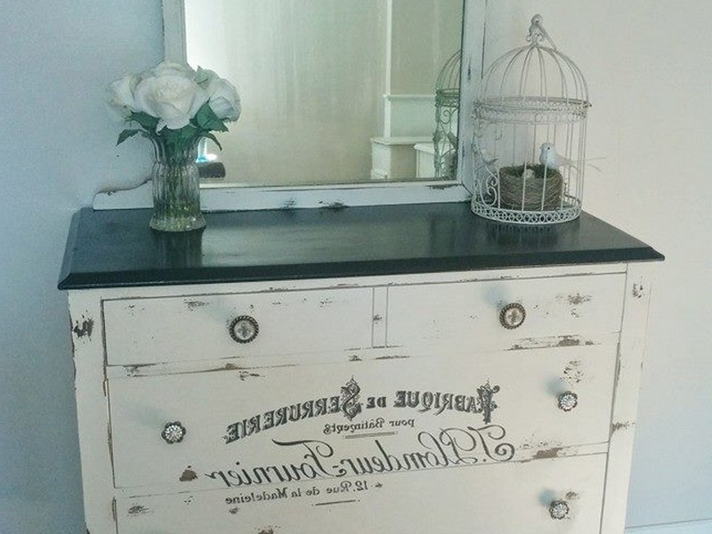 Antique White Secretary Desk