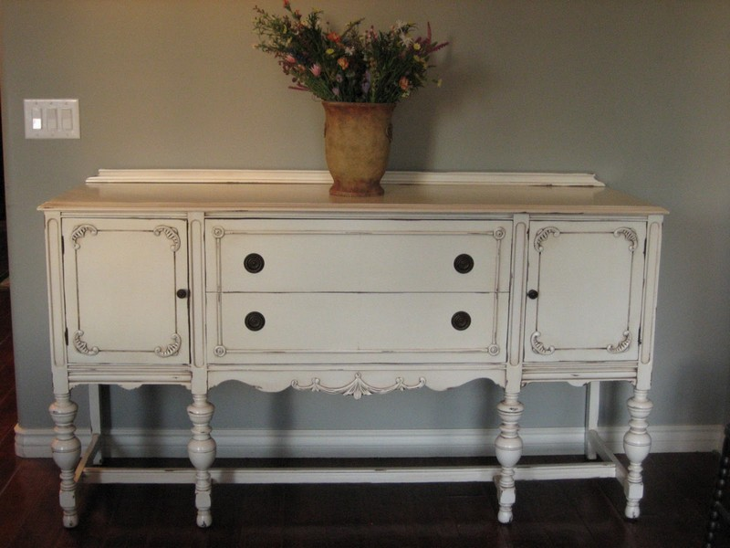 Antique White Sideboard Buffet