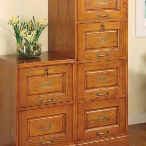 Antique Wood File Cabinet