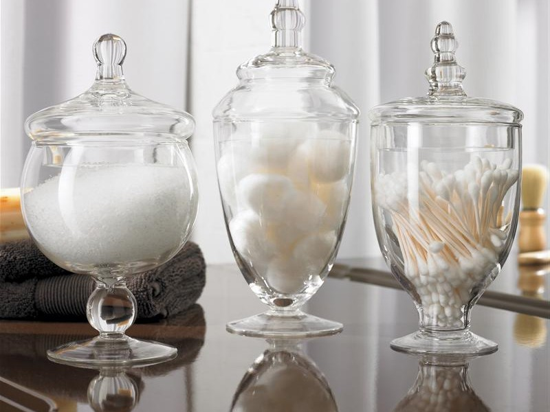 Apothecary Jars Bathroom Set