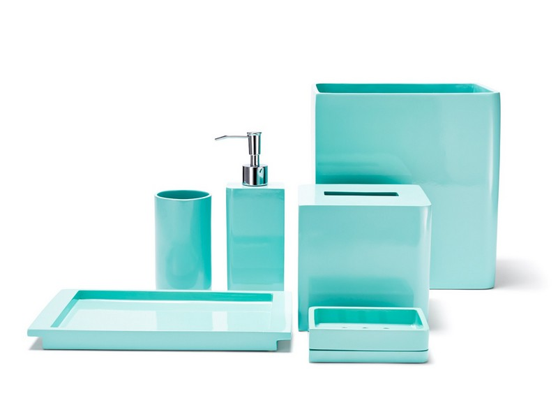 Aqua Bathroom Accessories Sets