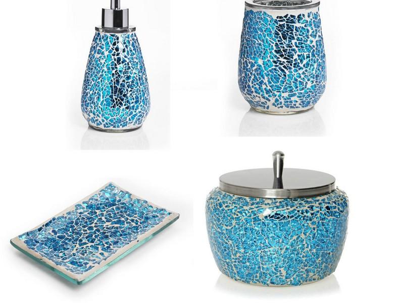 aqua blue bathroom accessories home design ideas rh itsallfare com Turquoise Bathroom Accessories Sets Navy Blue Bathroom Ideas