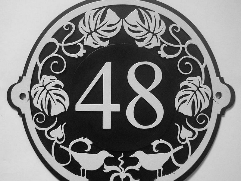 Art Deco House Numbers