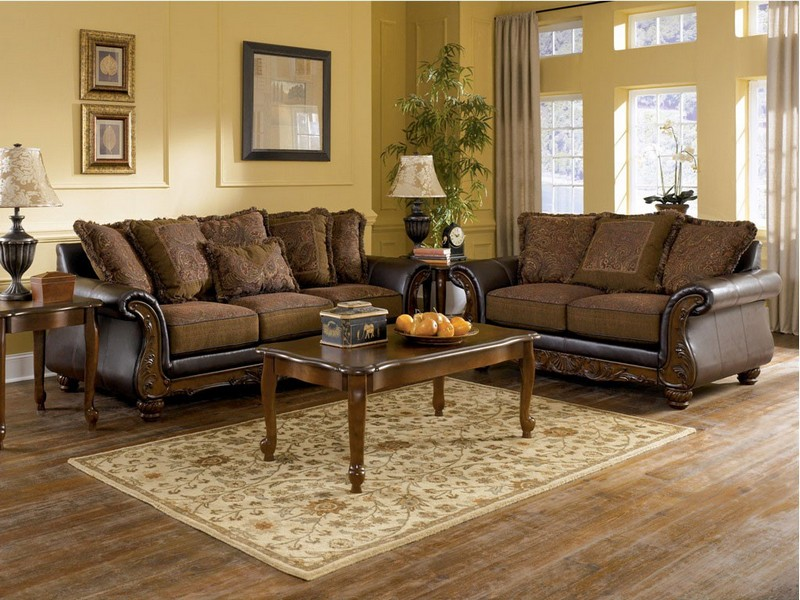 Ashley Furniture Leather Couch And Loveseat