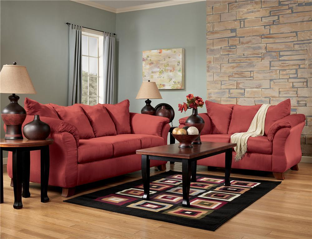 Ashley Furniture Living Room Sets Red