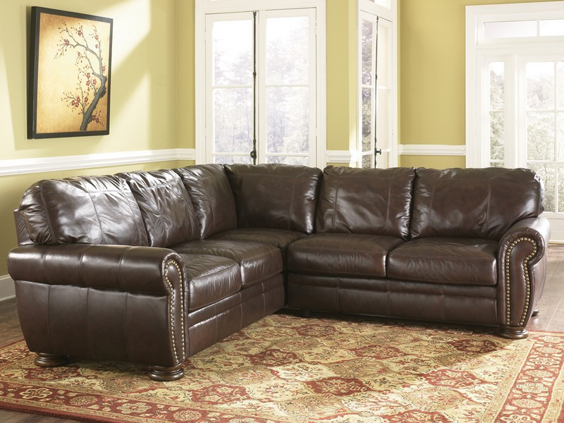 Ashley Leather Recliner Sectional