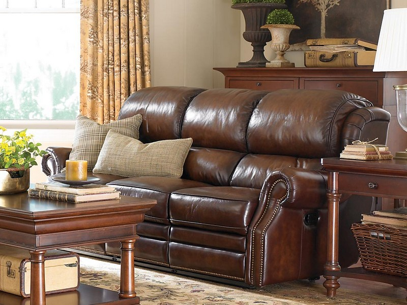 Ashley Leather Reclining Sofa