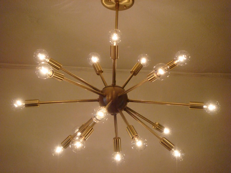 Atomic Sputnik Starburst Light Fixture