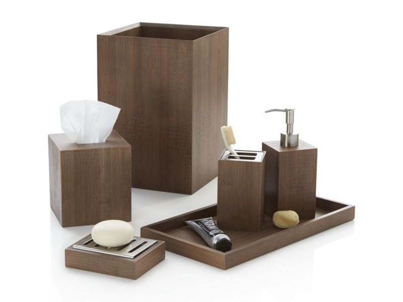 Bamboo Bathroom Accessories Set