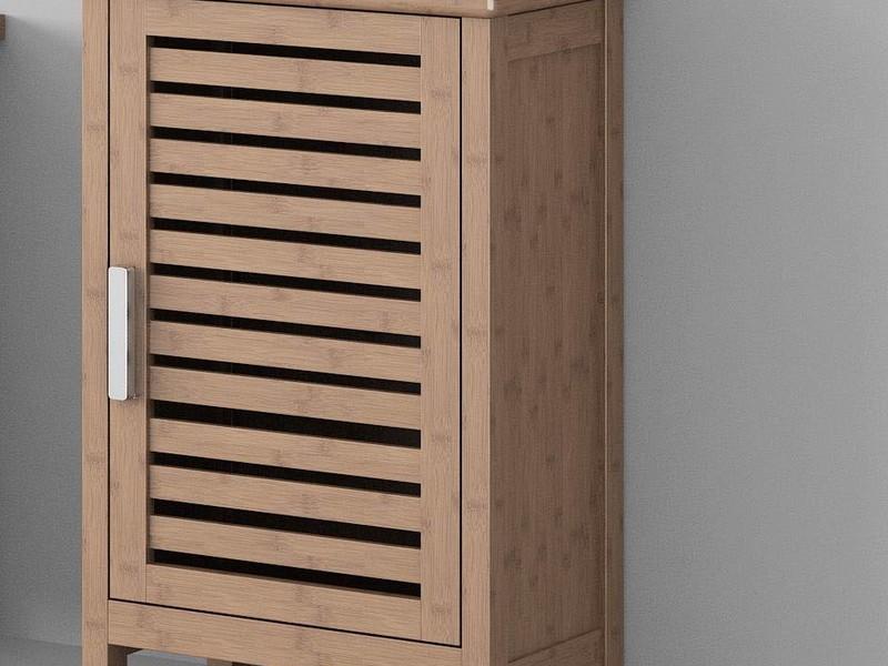 Bamboo Bathroom Shelf Unit