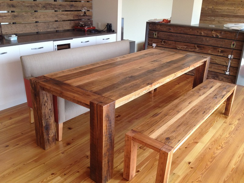 Barn Wood Kitchen Table Plans