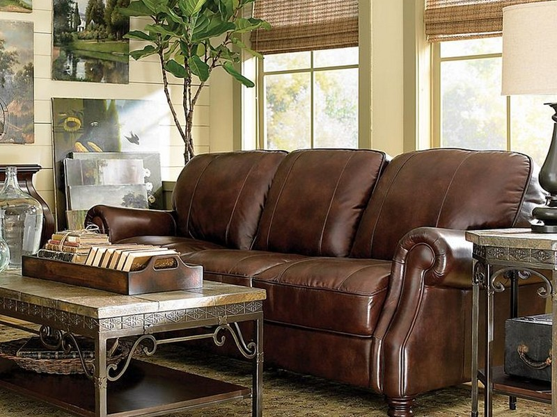 Bassett Furniture Leather Sofa