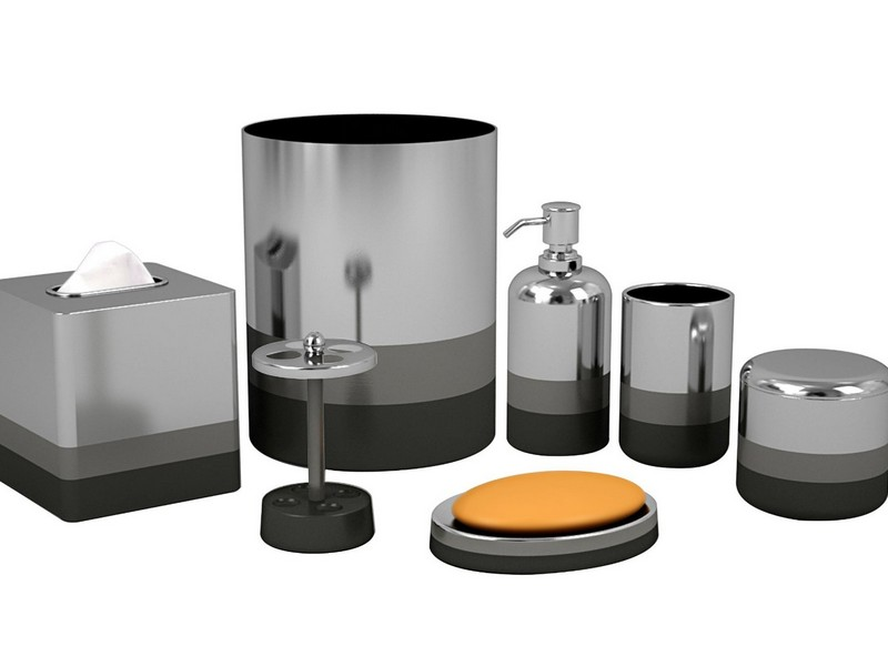 Bathroom Accessory Sets Silver