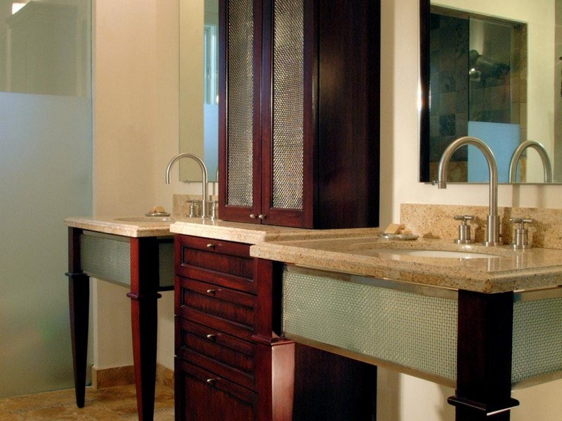 Bathroom Counter Storage Tower